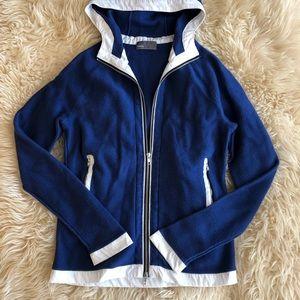 VINCE Royal Blue Zip- Up Jacket Size L